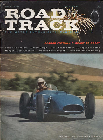 Road & Track Magazine July 1960