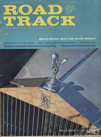 Road & Track Magazine September 1960