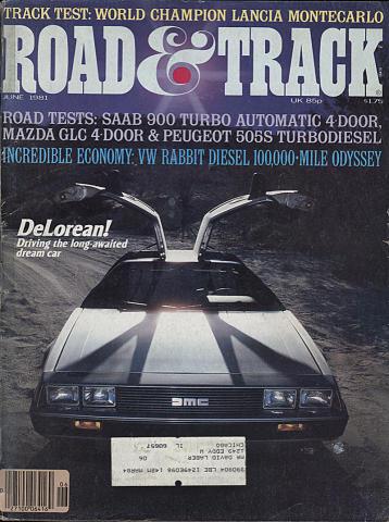 Road & Track Magazine June 1981
