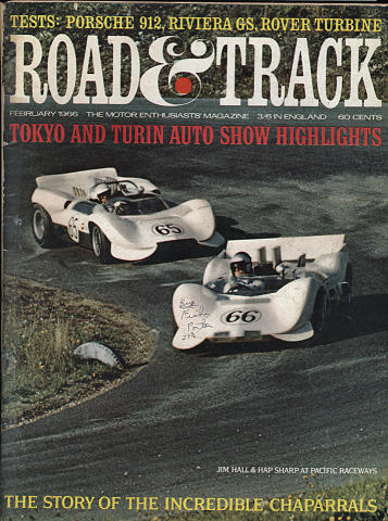 Road & Track Magazine February 1966