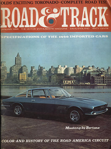 Road & Track Magazine January 1966