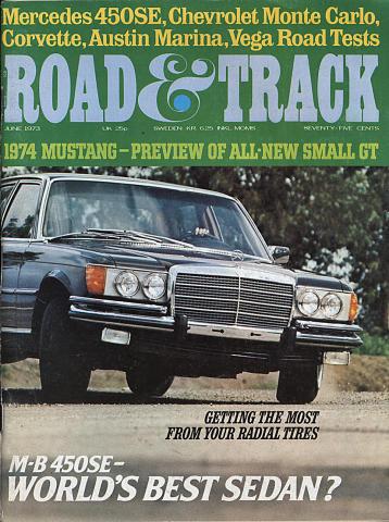 Road & Track Magazine June 1973