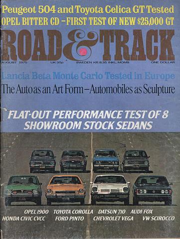 Road & Track Magazine August 1975