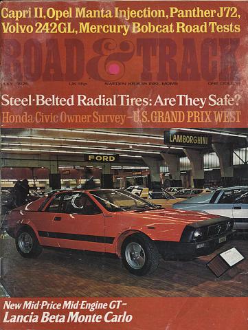 Road & Track Magazine July 1975
