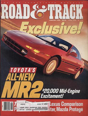 Road & Track Magazine February 1990