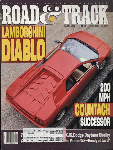 Road & Track Magazine March 1990