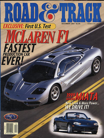Road & Track Magazine December 1997