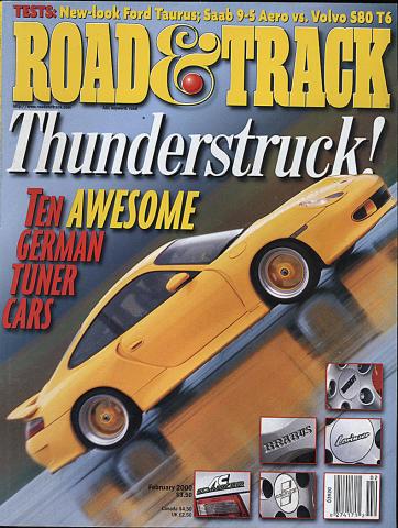 Road & Track Magazine February 2000