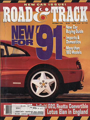 Road & Track Magazine October 1990