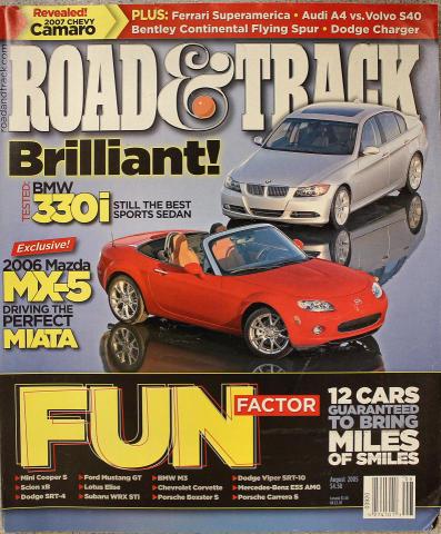 Road & Track Magazine August 2005