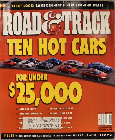 Road & Track Magazine November 2001