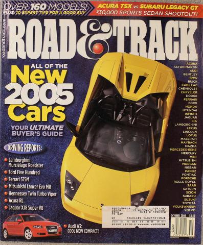 Road & Track Magazine October 2004