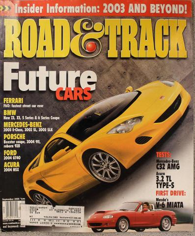 Road & Track Magazine September 2001