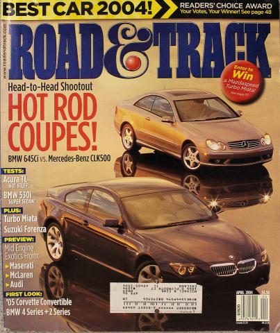 Road & Track Magazine April 2004
