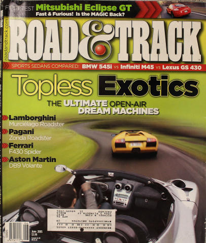Road & Track Magazine June 2005
