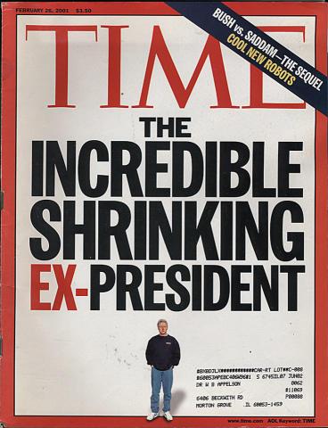 Time Magazine February 26, 2001