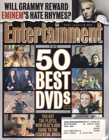 Entertainment Weekly January 19, 2001