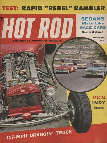 Hot Rod Magazine August 1957