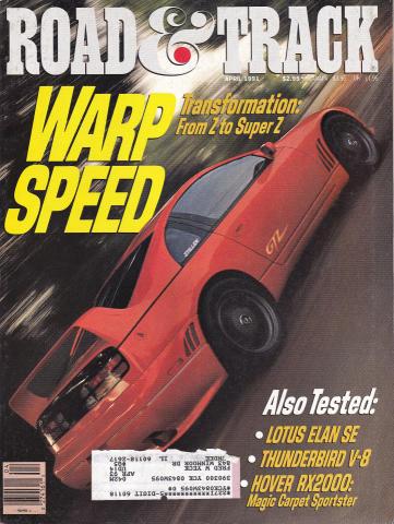 Road & Track Magazine April 1991