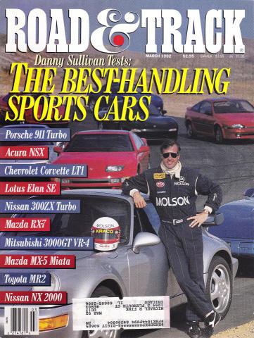 Road & Track Magazine March 1992