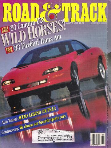 Road & Track Magazine January 1993