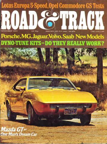 Road & Track Magazine November 1973