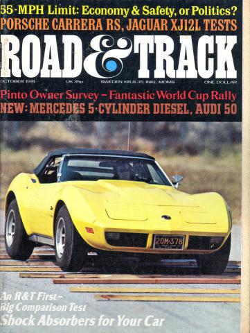 Road & Track Magazine October 1974