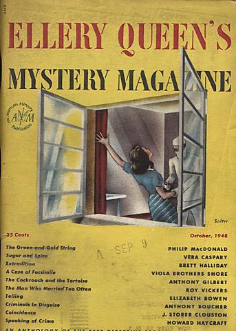 Ellery Queen's Mystery Magazine October 1948