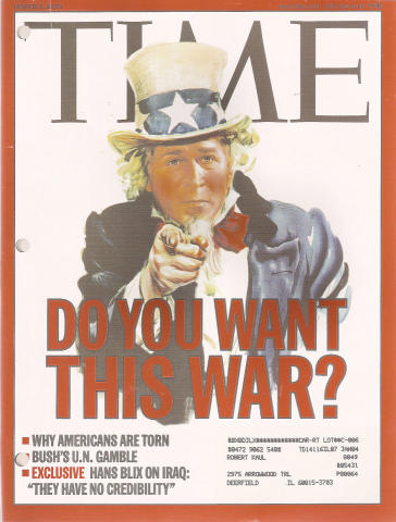 Time Magazine March 3, 2003