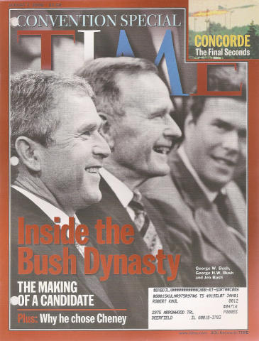 Time Magazine August 7, 2000