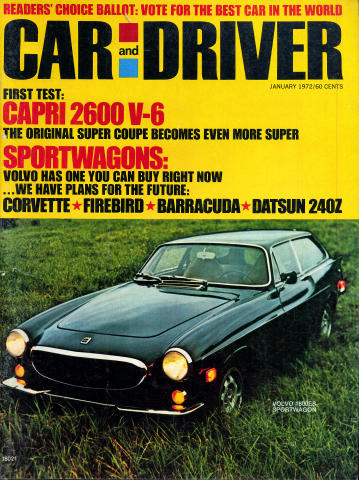 Car and Driver Magazine January 1972