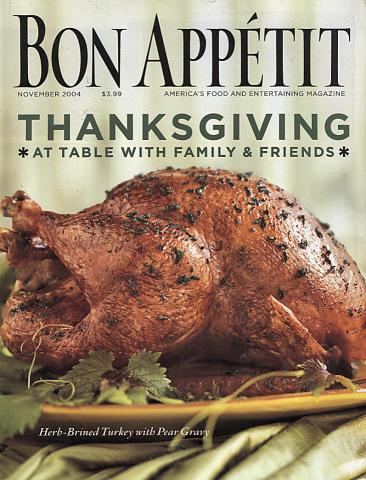 Bon Appetit Magazine November 2004