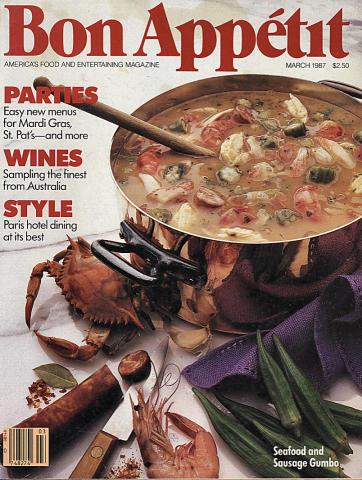 Bon Appetit Magazine March 1987