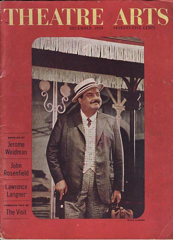 Theatre Arts Magazine December 1959