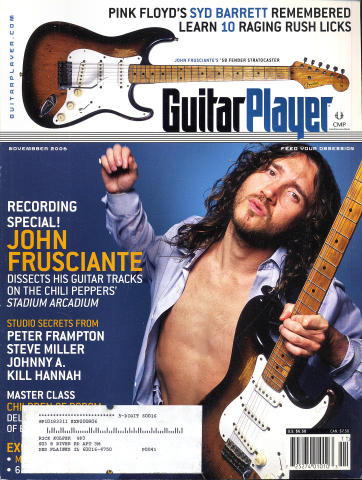 Guitar Player Magazine November 2006