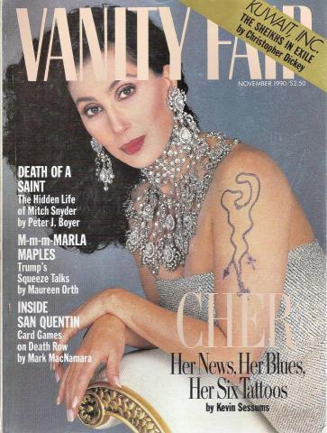 Vanity Fair Magazine November 1990
