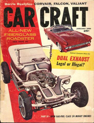 Car Craft Magazine January 1960