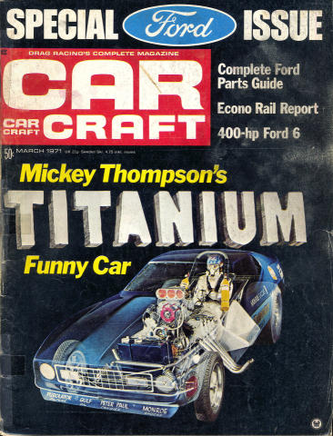 Car Craft Magazine March 1971