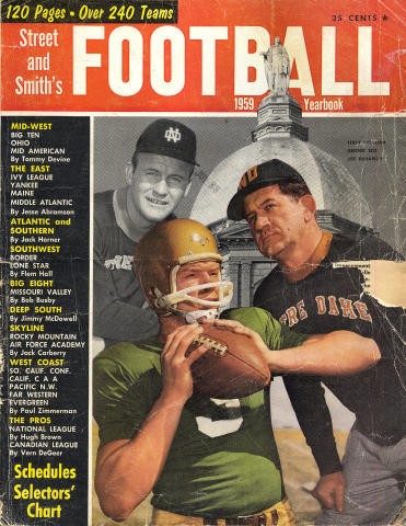 Street & Smith's Football Yearbook 1959