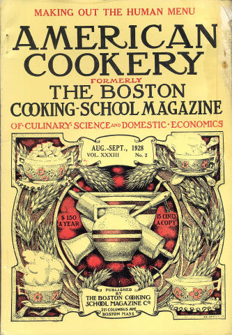 American Cookery Magazine August 1928