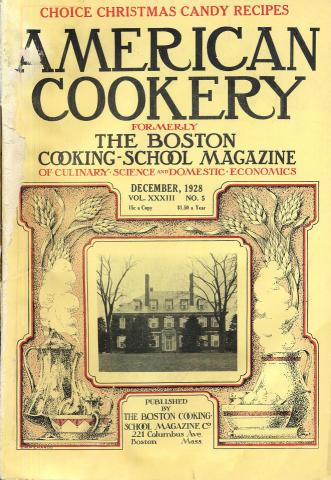 American Cookery Magazine December 1928