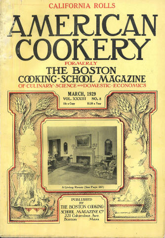 American Cookery Magazine March 1929