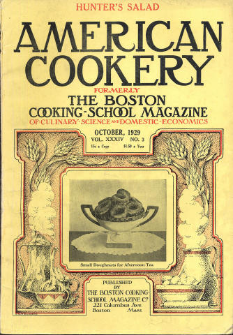 American Cookery Magazine October 1929