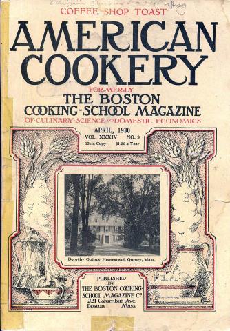 American Cookery Magazine April 1930