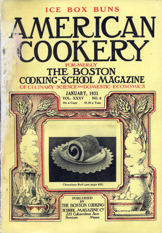 American Cookery Magazine January 1931