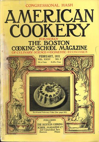 American Cookery Magazine February 1931