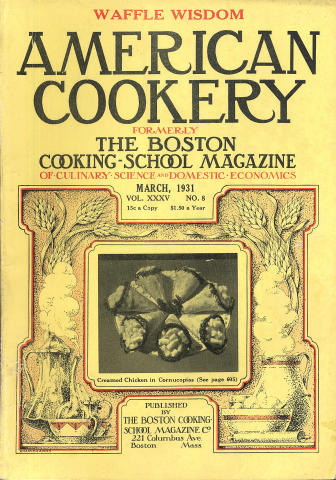 American Cookery Magazine March 1931