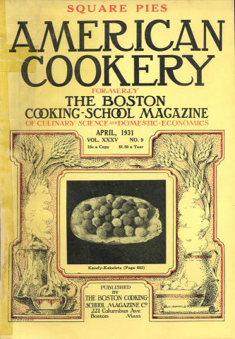 American Cookery Magazine April 1931