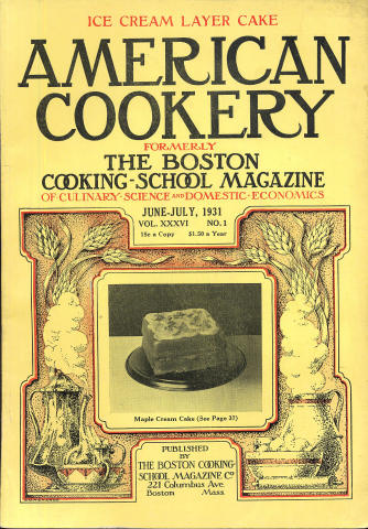 American Cookery Magazine June 1931