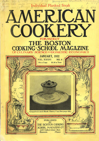 American Cookery Magazine January 1932